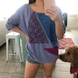 Free People short sleeved sweater